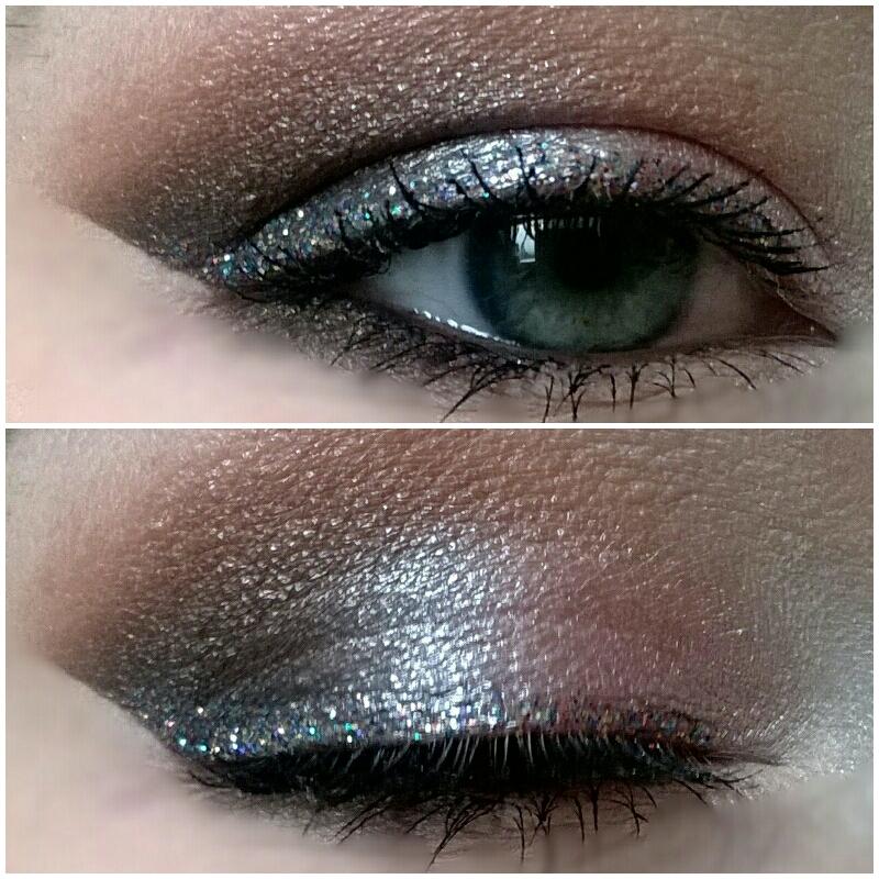 Tässä kuvassa rajauksena Make Up Storen glitter Multi.